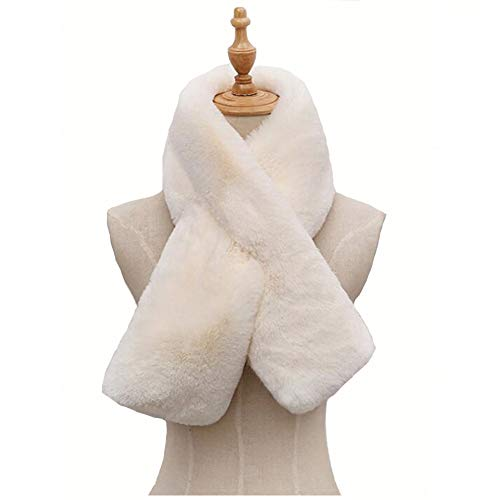 Womens's Winter Faux Fake Rabbit Fur Straight Scarf Wrap Neck Collar Shawl Shrug Warm