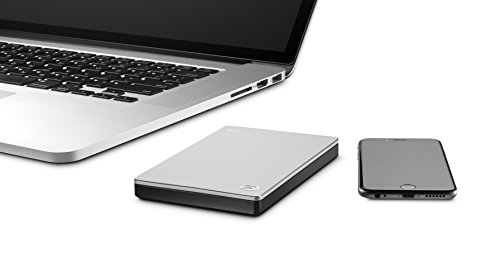 Seagate Backup Plus Slim 1TB Portable External Hard Drive for Mac USB 3.0 + 2mo Adobe CC Photography (STDS1000100) by Seagate (Image #3)