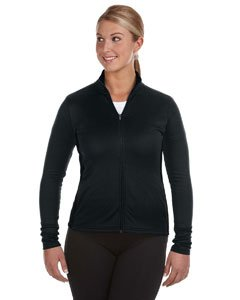 Champion S260 Womens Performance Color-block Full Zip Jacket - Black, Medium