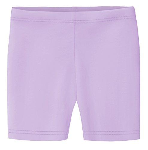 City Threads Little Girls Underwear Bike Shorts in All Cotton Perfect for SPD and Sensitive Skin Sports Dance School Uniform, Lavender 5 - Lavender Cotton Shorts
