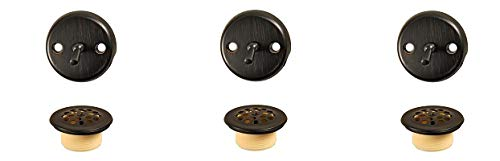 Danco Trip Lever Tub and Bath Drain Trim Kit with Overflow Plate, Oil Rubbed Bronze, 1-Pack (10580) (3-(Pack))