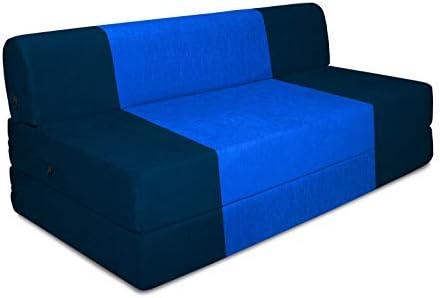 Marvelous Beanbagwala Spaces Therapy Zeal 3 Seater Sofa Bed Blue Xxl Inzonedesignstudio Interior Chair Design Inzonedesignstudiocom