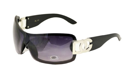 Women's Oversized DG Rimless Black Gradient Sunglasses with DG Accents