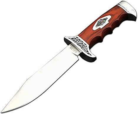 440C Steel Hunting Knives-Full Tang Fixed Blade Knives Wood Handle with Sheath-Outdoor Wild Survival Hiking Camping Tools