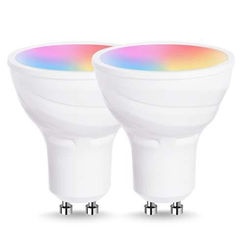 lohas wifi gu10 smart light bulbs works with alexa and google home 5w equal to 50w spot bulb. Black Bedroom Furniture Sets. Home Design Ideas