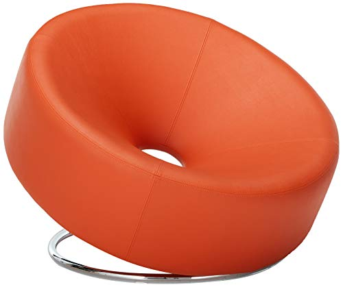 Christopher Knight Home 258635 Nouvelle Modern Design Orange Leather Lounge Chair,
