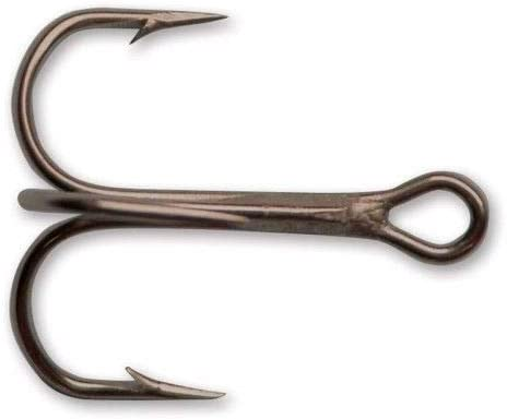 5 PACKAGES  MUSTAD 3567 SZ 12 ROUND BEND TREBEL  25 HOOKS
