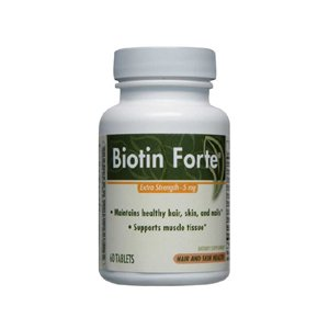 Ферментативный терапия Биотин Форте Extra Strength - 5 мг - 60 таблеток