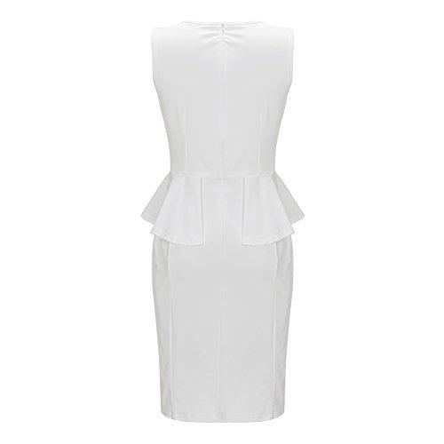 Leezeshaw - Vestido - para mujer blanco