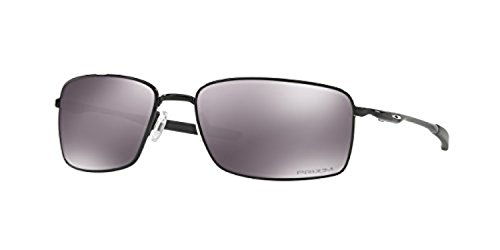 Oakley Square Wire Sunglasses Polished Black / Prizm Black & Cleaning Kit - Square Oakley Wires