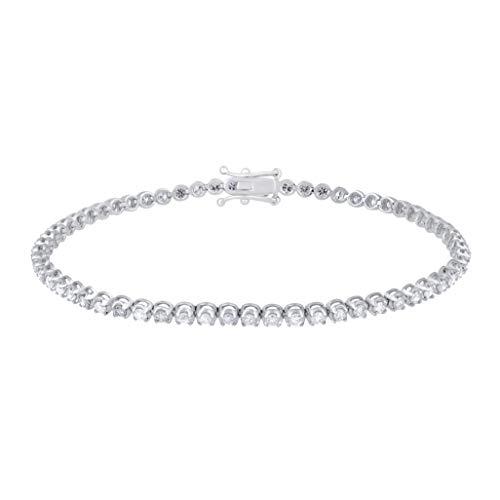 TJD Women's IGI Certified 2.00 Carat Natural Diamond Bracelet 18K White Gold (H-I Color, I1-I2 Clarity) Classic Diamond…