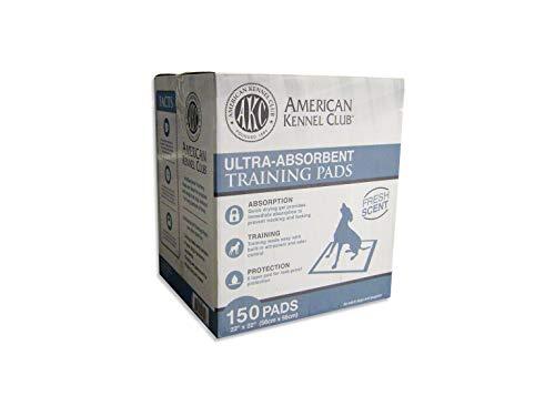 American Kennel Club AKC 150-Pack Pads de entrenamiento en una caja - AKC 63860
