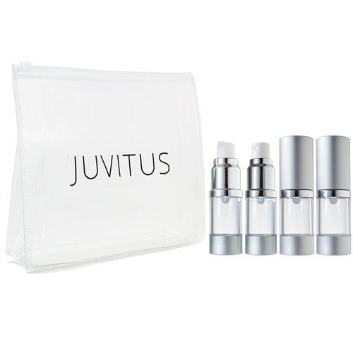 Airless Pump and Spray Bottle Refillable Travel Set with ...