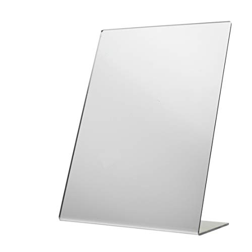 - Marketing Holders Acrylic Easel Mirror Slant Back Stand Perfect for Makeup or Hair Styling Safe Plastic Mirror 9