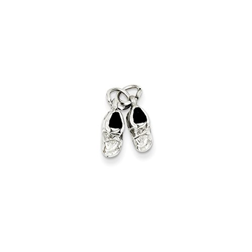 ICE CARATS 14kt White Gold Baby Shoes Pendant Charm Necklace Fine Jewelry Ideal Gifts For Women Gift Set From Heart 14kt Gold Baby Shoe Jewelry