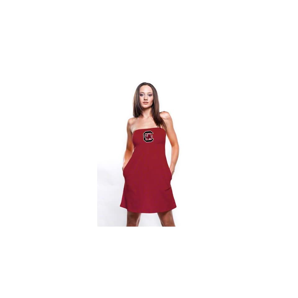 South Carolina Gamecocks Womens Cardinal Tube Dress With Pockets
