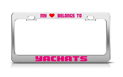 My Heart Belongs to Yachats Oregon License Plate Frame for sale  Delivered anywhere in Canada