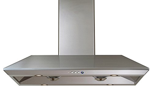 Windster Hood R-18L36SS Residential Stainless Steel Island Range Hood, 36-Inch