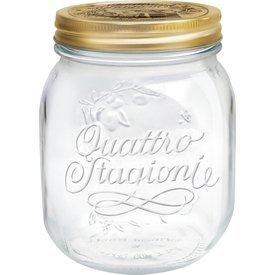 Bormioli Rocco Quattro Stagioni 23.5 Ounce Glass Jar - Set of 4