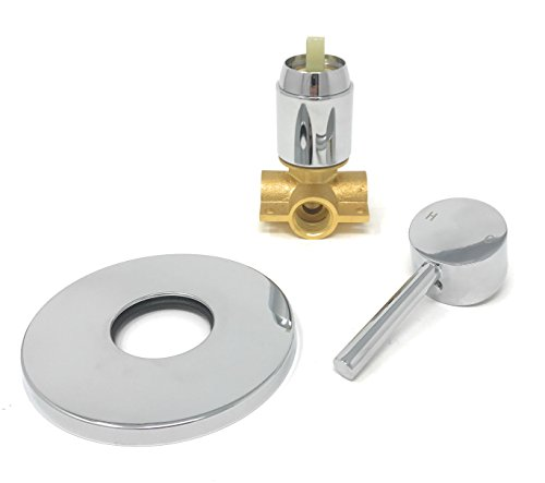 Smaller Shower Mixer Chrome and Brass Plated [07-312] by MADOL