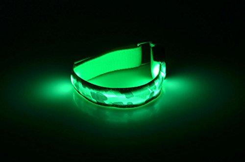 Chiefmax Adjustable LED Light Up Camo Bracelet / Necklace for Dance Party, Rave, Concert, Club (Punk Dog Collar (Best Stoner Costumes)