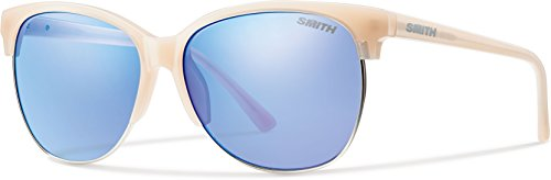 Smith Optics Women's Rebel Archive Sunglasses/Eyewear, Nude/Blue Flash Mirror, - Smith Rebel Sunglasses