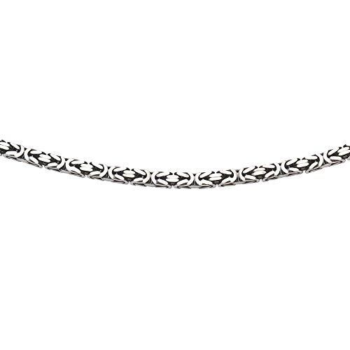 Sterling Silver Oxidized Plated Oxidized Byzantine Bracelet - 9 Inch by JewelryWeb