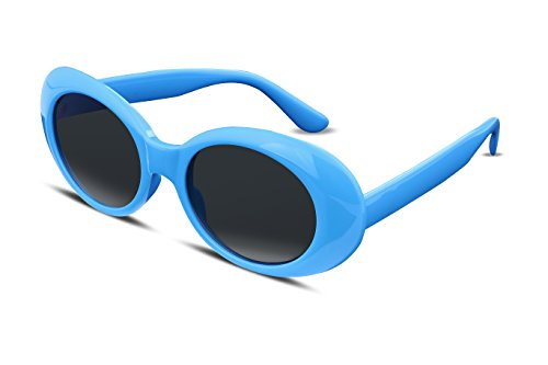 FEISEDY Candy Retro Acetate Blue Frame Clout Goggles Kurt Cobain Sunglasses - Acetate Blue