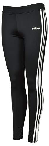 adidas Girls' Performance Tight Three Stripe Leggings - M - Black/White