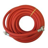 Goodyear 20665550 3/4' X 50' 200 PSI Red Jack Hammer Hose Assembly w/ Coupled Universals on Both Ends