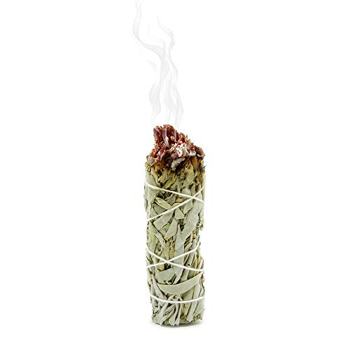 GloFX White Sage Bundle – 3 Pack – 4 Inches Sustainably Harvested California Smudge Stick Wand for Spiritual Incense…