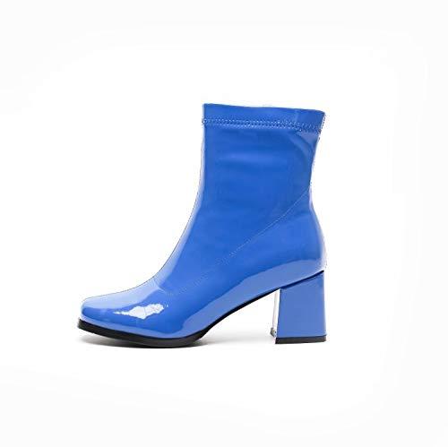 Femmes à Blue Talons Bottes Hauts p6dtHnx