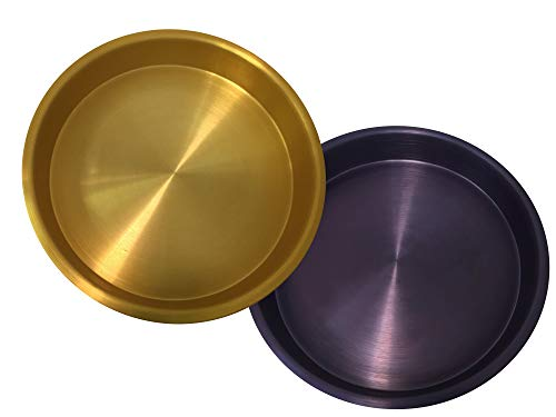 Bayou Classic Purple & Gold Anodized Serving Trays, set of 4