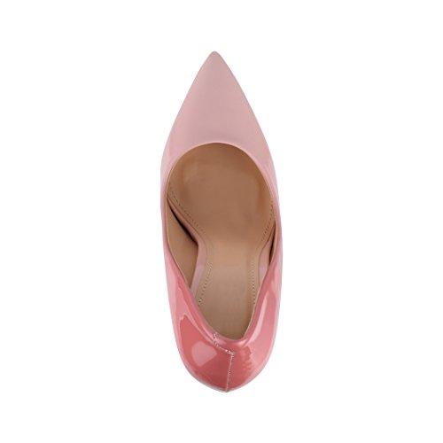 High Elegante Comodo Rosa punta Lyon tacco Heels Elara Stilettos di qRYYwZ