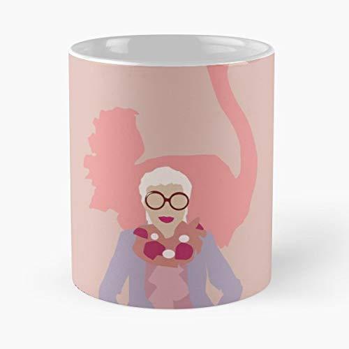 Iris Apfel Fashion Icon - 11 Oz Coffee Mugs Ceramic The Best Gift For Holidays, Item Use Daily