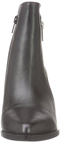 Buffalo London 15b66-1 Nappa Leather, Zapatillas de Estar por Casa para Mujer Negro