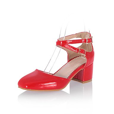 LvYuan Mujer-Tacón Robusto-Otro-Sandalias-Vestido Informal Fiesta y Noche-PU-Negro Azul Rosa Rojo Blanco Oro Blue