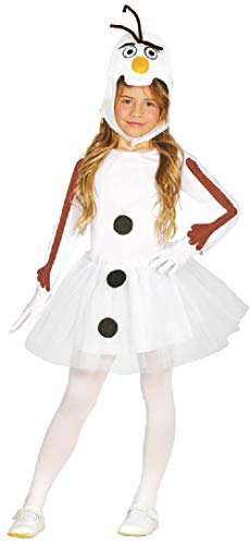 Girls Cute Comedy Snowman Christmas Xmas Noel Festive Fun TV Book Film Fancy Dress Costume Outfit (7-9 years) ()