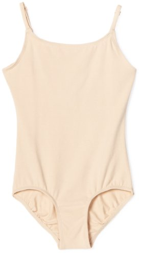 (Danskin Big Girls' Camisole Leotard, Nude, Medium (8-10))