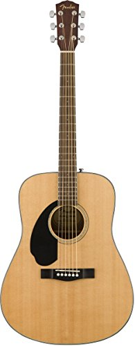 (Fender CD-60S Left Handed Acoustic Guitar - Dreadnought Body - Natural)