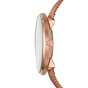 Fossil Women Essentialist Quartz Stainless Steel Dress Watch, Color: Rose Gold, 18 (Model: ES4425)