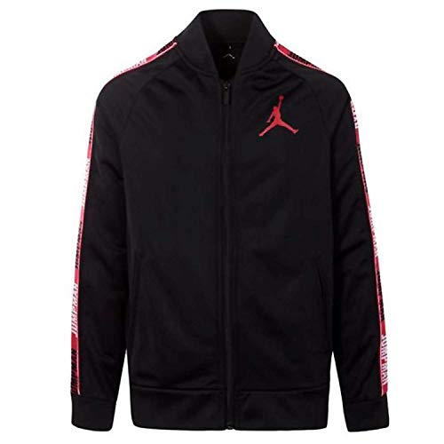 Jordan Air Boys Youth Legacy Tricot Jacket Size M, L, XL (Black, Large (12-13yrs))