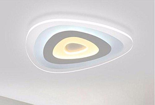 MeloveCc Deckenleuchte Ledthat Kreativität Schlafzimmer Wohnzimmer Persönlichkeit Restaurant Home Beleuchtung die Geometrie ultraflache Warm weiß 43 cm
