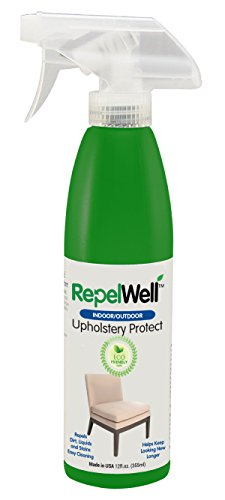 - Repel Well Upholstery Protect Stain & Water Repellent Spray (12oz) Eco-friendly, Pet-safe Spray Keeps Your Fabric, Leather & Suede Upholstery Looking New, Longer