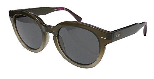 Toms Bellevue Womens/Ladies Designer Full-rim 100% UVA & UVB Lenses Sunglasses/Eyewear (51-19-145, Gradient Dark Olive / - Bellevue Sunglasses