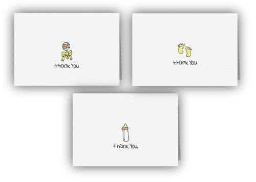 Baby Thank You Cards Collection - 24 Cards