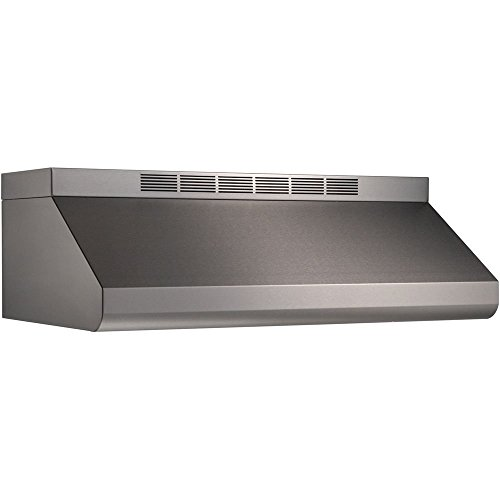 (Broan Elite E6448TSS Under-Cabinet Canopy Range Hood with Internal Blower Variable Speed Control and Convertible to Recirculating: 48 in. Width 1200 CFM in)