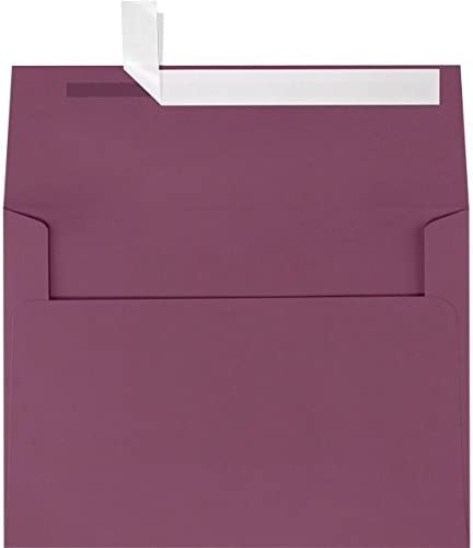 Holiday Red A1 Invitations Measures: 3 5//8 x 5 1//8 Envelopes 50 Boxed for 3 3//8 X 4 7//8 Response Cards Announcements Showers Weddings from The Envelope Gallery