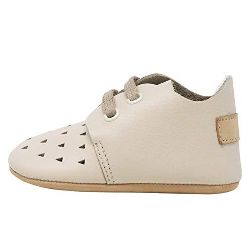 Ella Bonna Mini Baby Oxford Shoes | Cowhide, Full Grain Leather Sole | Flexible | Handmade Designer Moccasins | for Boys Girls Toddlers (US 4 M, Summer)