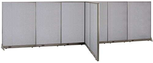 GOF T-Shaped Freestanding Partition 60d x 240w x 72h / Office, Room Divider by GOF